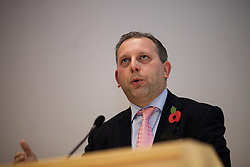 © Licensed to London News Pictures . 06/11/2012 . Manchester , UK . Conservative Party candidate Michael Winstanley . Manchester Police and Crime Commissioner debate this evening (6th November 2012) , at the Roscoe Building , the University of Manchester . Elections for 41 local Police and Crime Commissioners take place across the UK on 15th November 2012 . Photo credit : Joel Goodman/LNP