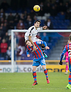 Dundee&rsquo;s Julen Etxabeguren towers over Inverness' Billy McKay - Inverness Caledonian Thistle v Dundee in the Ladbrokes Scottish Premiership at Caledonian Stadium, Inverness.Photo: David Young<br /> <br />  - &copy; David Young - www.davidyoungphoto.co.uk - email: davidyoungphoto@gmail.com