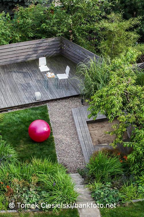 Terrace garden. View from the top of the house. Designer: Malgorzata Helman
