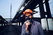 April 20, 1990. Copsa Mica, Rumania. Situated around a soot factury and a lead refinery, Copsa Mica is one of Europe's most polluted towns. Everything within 25 kilometers is covered with black grease. (Photo Heimo Aga)