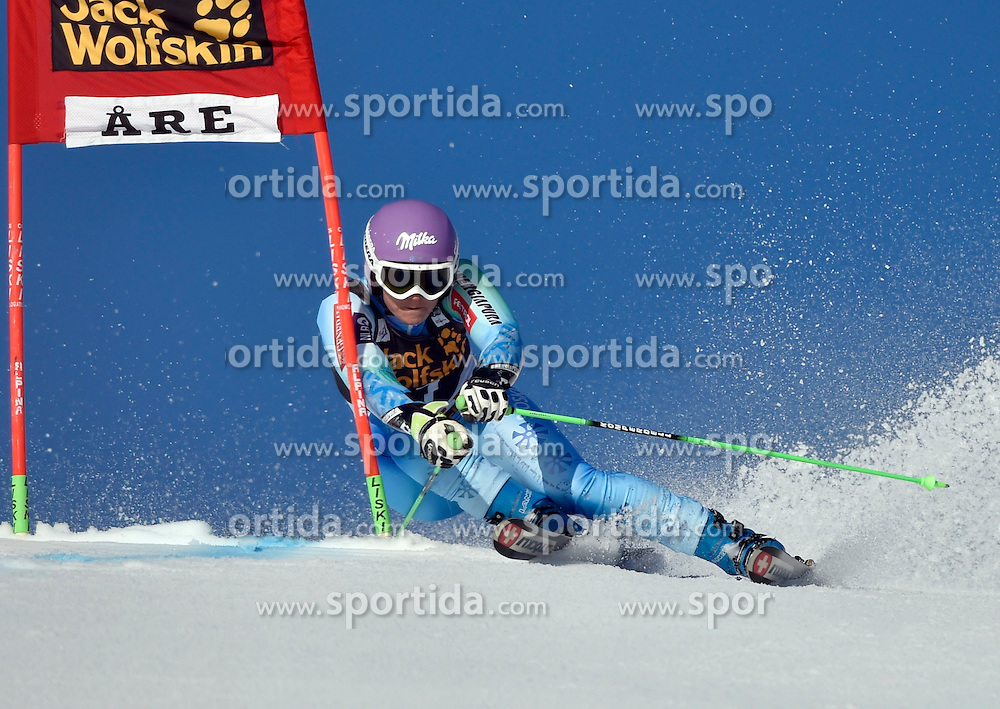 13.03.2015, Olympia Worldcup course, Are, SWE, FIS Weltcup Ski Alpin, Are, Riesensalom, Damen, 1. Lauf, im Bild Tina Maze (SLO) // Tina Maze of Slovenia in action during 1st run for the ladie's Giant Slalom of the FIS Ski Alpine World Cup at the Olympia Worldcup course in Are, Sweden on 2015/03/13. EXPA Pictures &copy; 2015, PhotoCredit: EXPA/ Nisse Schmidt<br /> <br /> *****ATTENTION - OUT of SWE*****