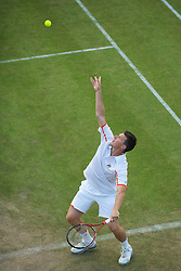 LONDON, ENGLAND - Thursday, June 24, 2010: Kenneth Skupski (GBR) during the Gentlemen's Doubles 1st Round match on day four of the Wimbledon Lawn Tennis Championships at the All England Lawn Tennis and Croquet Club. (Pic by David Rawcliffe/Propaganda)