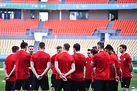 Players of Wales national football team take part in a training session before the semi-final match against China during the 2018 Gree China Cup International Football Championship in Nanning city, south China's Guangxi Zhuang Autonomous Region, 20 March 2018.