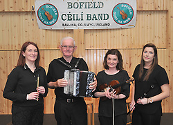 Pictured are three generations of the Conlon family from Bunniconlon Ann, Martin, Helen and Shauna at the opening night of the summer seasons of Sesi&uacute;ns organised by the Bofield Comhaltas group. <br /> Pic Conor McKeown