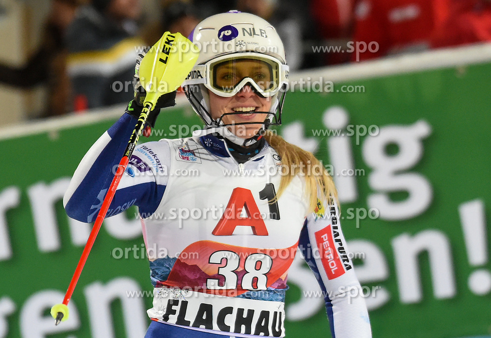 14.01.2020, Hermann Maier Weltcupstrecke, Flachau, AUT, FIS Weltcup Ski Alpin, Slalom, Damen, 2. Lauf, im Bild Ana Bucik (SLO) // Ana Bucik of Slovenia reacts after her 2nd run of women's Slalom of FIS ski alpine world cup at the Hermann Maier Weltcupstrecke in Flachau, Austria on 2020/01/14. EXPA Pictures © 2020, PhotoCredit: EXPA/ Erich Spiess