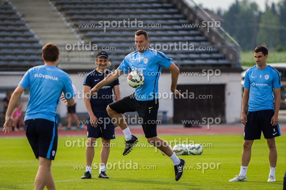 Samir Handanovic during practice session of Slovenian National Football Team before Euro 2016 Qualifications match against England, on June 11, 2015 in Kranj, Slovenia. Photo by Ziga Zupan / Sportida