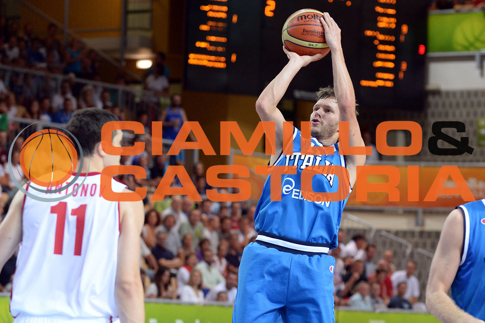 DESCRIZIONE : Capodistria Koper Slovenia Eurobasket Men 2013 Preliminary Round Russia Italia Russia Italy<br /> GIOCATORE : Travis Diener<br /> CATEGORIA : Tiro<br /> SQUADRA : Italia<br /> EVENTO : Eurobasket Men 2013<br /> GARA : Russia Italia Russia Italy<br /> DATA : 04/09/2013 <br /> SPORT : Pallacanestro&nbsp;<br /> AUTORE : Agenzia Ciamillo-Castoria/Max.Ceretti<br /> Galleria : Eurobasket Men 2013 <br /> Fotonotizia : Capodistria Koper Slovenia Eurobasket Men 2013 Preliminary Round Russia Italia Russia Italy<br /> Predefinita :