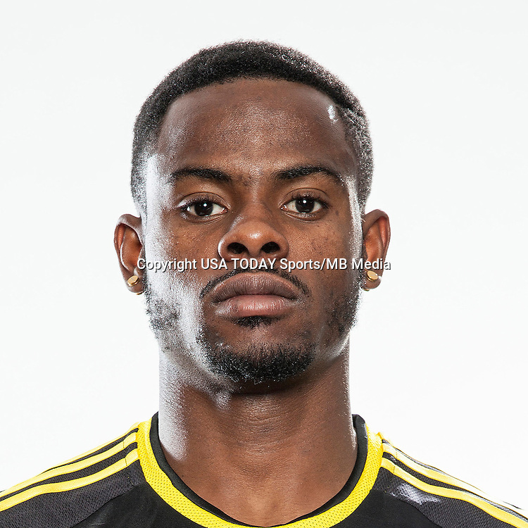 Feb 25, 2016; USA; Columbus Crew player Waylon Francis poses for a photo. Mandatory Credit: USA TODAY Sports