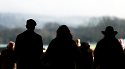 Racegoers soak up the atmosphere during the New Year's Day meeting at Cheltenham Racecourse