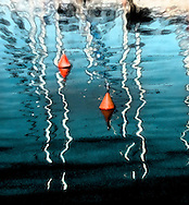 Fineart print buoys in the water