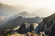 Beautiful mountain scenery around Mount Souda, highest mountain in Saudi Arabia, Abha, Saudi Arabia