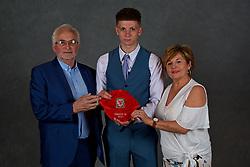 NEWPORT, WALES - Saturday, May 19, 2018: Will Rickard and family during the Football Association of Wales Under-16's Caps Presentation at the Celtic Manor Resort. (Pic by David Rawcliffe/Propaganda)