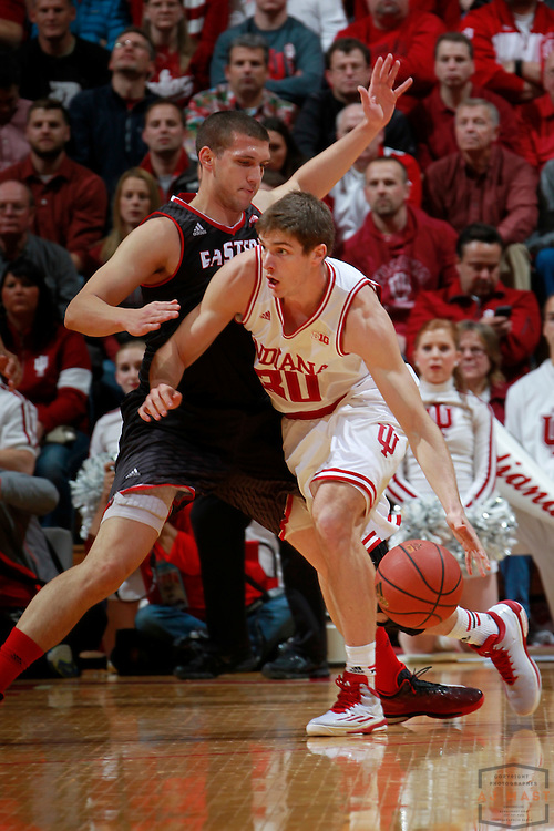 Indiana forward Collin Hartman (30) as Eastern Washington played Indiana in an NCAA college basketball game in Bloomington, Ind., Monday, Nov. 24, 2014. (AJ Mast)