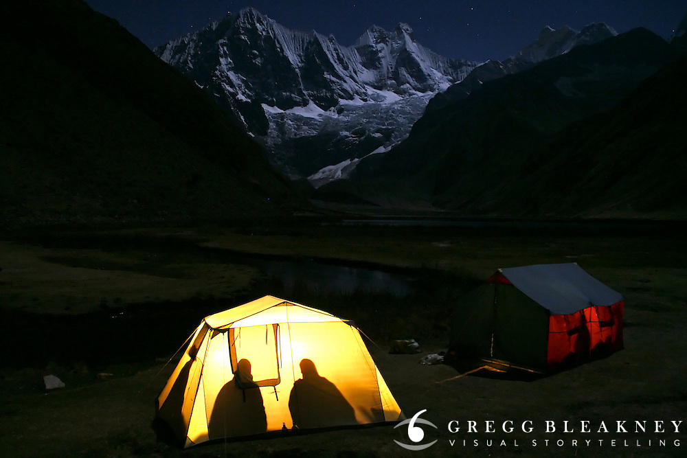 Late Night Poker - Cordillera Huayhuash - Peruvian Andes - South America