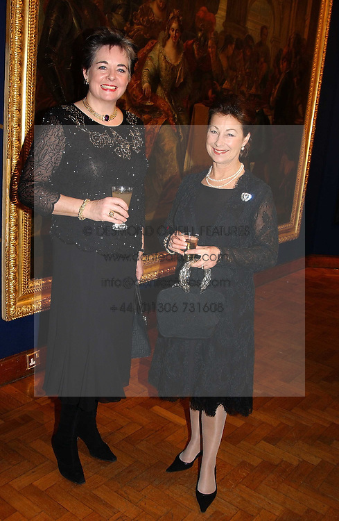 Left to right, LADY JANE DAWNAY and The COUNTESS OF LEICESTER at a reception hosted by Brian Ivory Chairman of the Trustees of The National Galleries of Scotland to commemorate Sir Timothy Clifford's 21 years of Director of the National Gallery of Scotland and his forthcoming retirement in January 2006, held at Christie's, King Street, London W1 on 6th December 2005.<br />