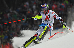 "29.01.2019, Planai, Schladming, AUT, FIS Weltcup Ski Alpin, Slalom, Herren, 1. Lauf, im Bild Alexis Pinturault (FRA) // Alexis Pinturault of France in action during his 1st run of men's Slalom ""the Nightrace"" of FIS ski alpine world cup at the Planai in Schladming, Austria on 2019/01/29. EXPA Pictures © 2019, PhotoCredit: EXPA/ Erich Spiess"
