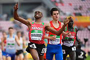 George Meitamei Manangoi (KEN) wins the Gold Medal in 1500 Metres Men during the IAAF World U20 Championships 2018 at Tampere in Finland, Day 3, on July 12, 2018 - Photo Julien Crosnier / KMSP / ProSportsImages / DPPI