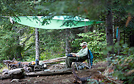 Base camp in the Boundary Waters in Northern Minnesota. .