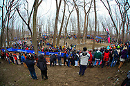 Over 10,000 fans fill Eva Bandman Park in Louisville, Kentucky, during the UCI Cyclocross World Championships on February 2, 2013. © Dan Henry / BiciPhoto.com