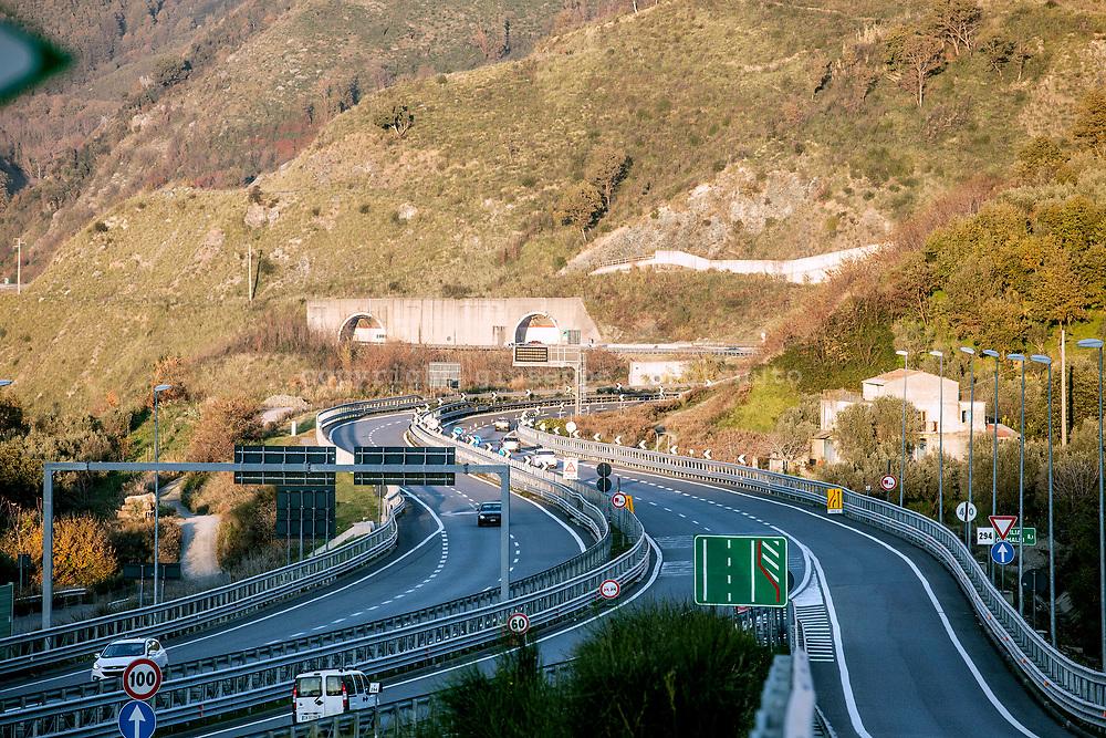 15 December 2016, Italy, Salerno Reggio-Calabria highway.
