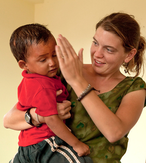 Maggie Doyne and Bishal, Kopila Valley Children's Home, Surkhet, Nepal