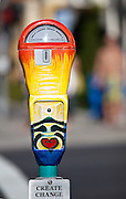 Painted Parking Meter