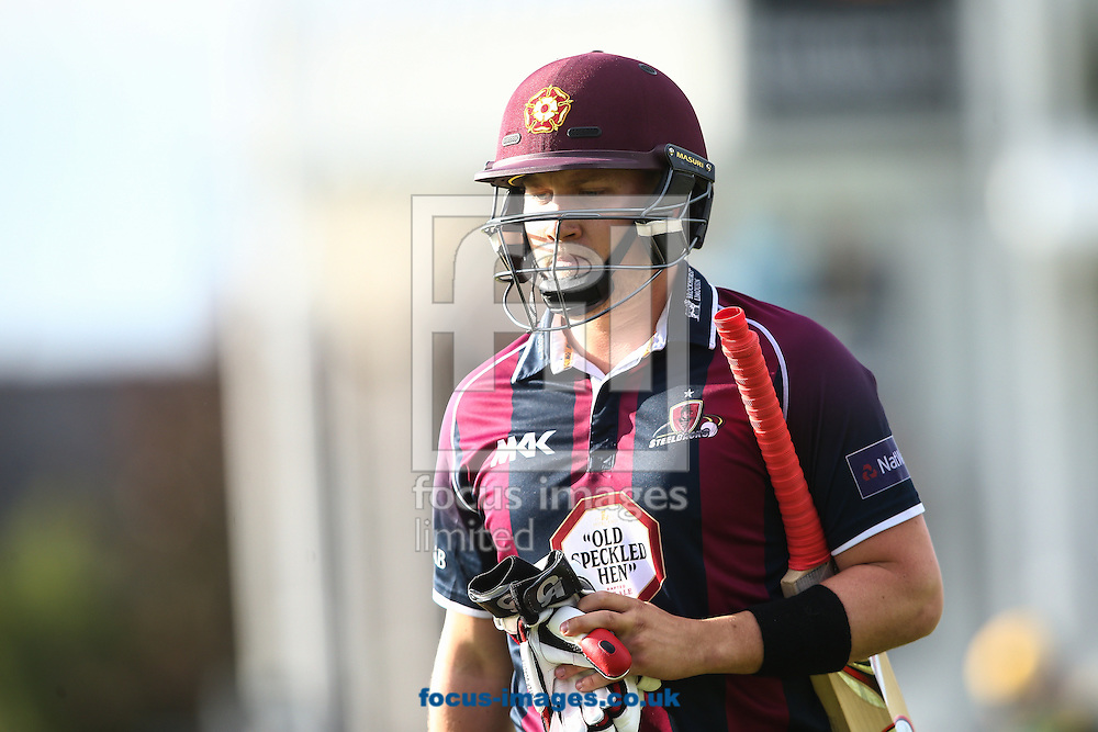 Josh Cobb of Northants Steelbacks during the Natwest T20 Blast match at the County Ground, Northampton, Northampton<br /> Picture by Andy Kearns/Focus Images Ltd 0781 864 4264<br /> 08/07/2016
