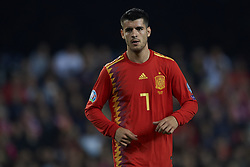 March 23, 2019 - Valencia, Valencia, Spain - Alvaro Morata of Spain in action during the 2020 UEFA European Championships group F qualifying match between Spain and Norway at Estadi de Mestalla on March 23, 2019 in Valencia, Spain. (Credit Image: © Jose Breton/NurPhoto via ZUMA Press)