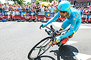 04-07-2015: Wielrennen: Grande Depart: Tour de France: Utrecht<br /> <br /> Michele SCARPONI<br /> <br /> De 1e etappe van de Tour de France van 2015 was een individuele tijdrit van 13,8 kilometer. De start en finish zijn bij de Jaarbeurs in Utrecht