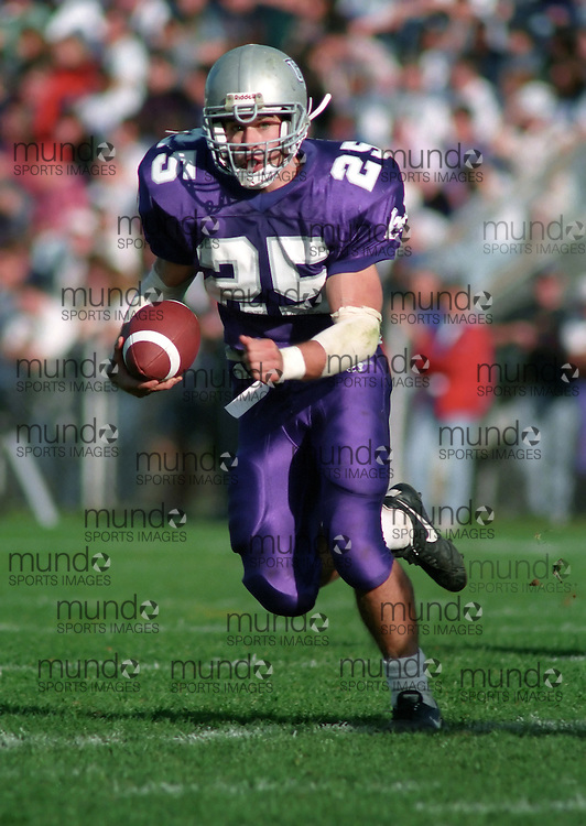 (October 1, 1994) University of Western Ontario Mustangs play in OUAA  football played at J W Little Stadium in London, Ontario. Photograph copyright Sean Burges / Mundo Sport Images.