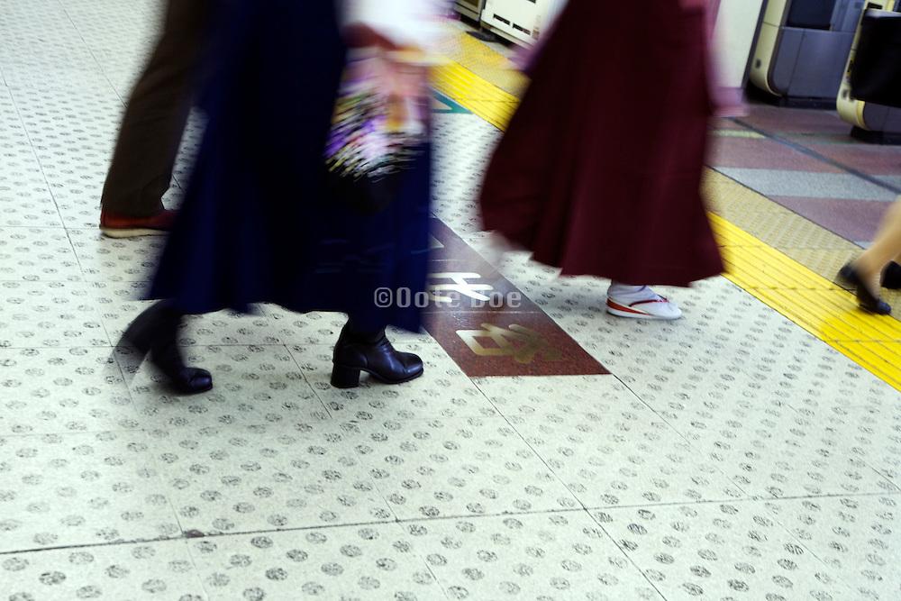 modern and traditional dressed women walking Japan