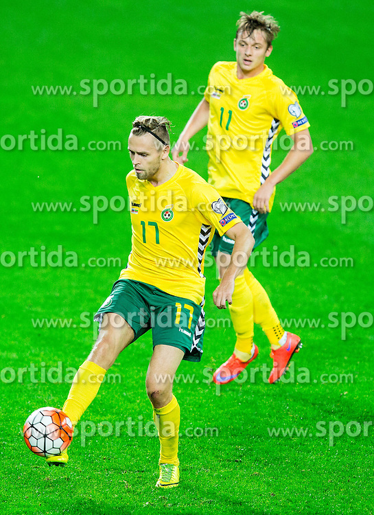 Arturas Zulpa of Lithuania during the EURO 2016 Qualifier Group E match between Slovenia and Lithuania, on October 9, 2015 in SRC Stozice, Ljubljana Slovenia. Photo by Vid Ponikvar / Sportida