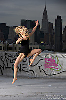 New York City Rooftop Dancer Lane Botha- Dance As Art- The New York Photography Project