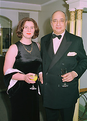 PRINCESS KATARINA OF YUGOSLAVIA and her husband MR DESMOND DE SILVA QC at a ball in London on 16th April 1998.MGR 7