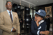 LABRINTH; AYISHAT AKANBI, Tom Ford cocktail and preview of Tom Ford's Spring-Summer 2016 Menswear Collection. 201-202 Sloane St. London. 14 June 2015