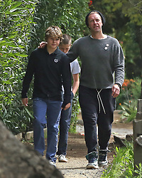 EXCLUSIVE: Chris Martin out with his son Moses who celebrates his 14th birthday today (Wednesday) **SPECIAL INSTRUCTIONS*** Please pixelate children's faces before publication.***. 08 Apr 2020 Pictured: Chris Martin out with his son Moses who celebrates his 14th birthday today. Photo credit: P&P / MEGA TheMegaAgency.com +1 888 505 6342
