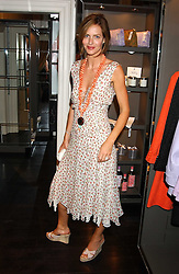TRINNY WOODALL at a party to launch the Acqualuna jewellery exhibition at Allegra Hicks, 28 Cadogan Place, London on 22nd June 2005.<br /><br />NON EXCLUSIVE - WORLD RIGHTS