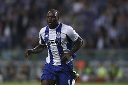 September 22, 2017 - Porto, Porto, Portugal - Porto's Cameroonian forward Vincent Aboubakar celebrates after scoring goal during the Premier League 2016/17 match between FC Porto and Portimonense SC, at Dragao Stadium in Porto on September 22, 2017. (Credit Image: © Dpi/NurPhoto via ZUMA Press)