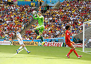 Igor Akinfeev of Russia claims a high ball during the 2014 FIFA World Cup match at Maracana Stadium, Rio de Janeiro, Brazil. <br /> Picture by Andrew Tobin/Focus Images Ltd +44 7710 761829<br /> 22/06/2014