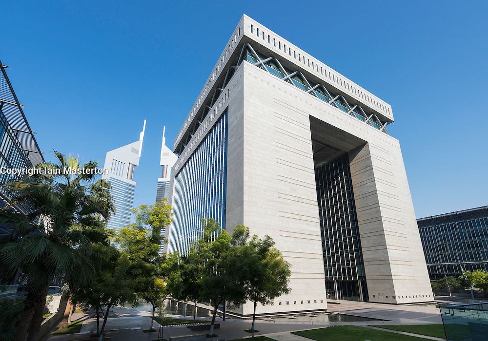 The Gate building in DIFC or Dubai International Financial Center in Dubai United Arab Emirates UAE Middle East