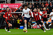 Dele Alli (20) of Tottenham Hotspur on the attack during the Premier League match between Bournemouth and Tottenham Hotspur at the Vitality Stadium, Bournemouth, England on 11 March 2018. Picture by Graham Hunt.