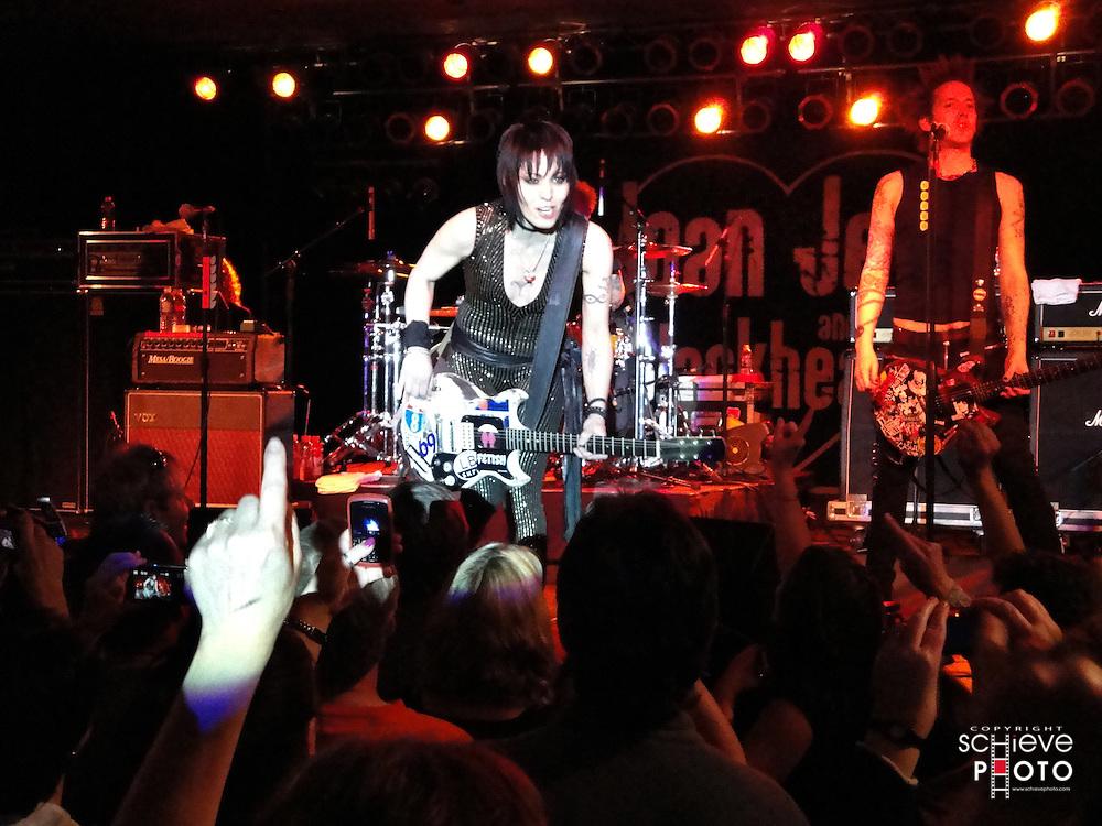 Joan Jett and the Blackhearts in concert at the Ho-Chunk Casino.