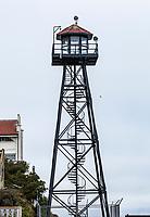 Alcatraz guard tower. San Fransisco Bay, California, USA