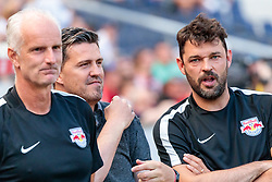 28.05.2017, Red Bull Arena, Salzburg, AUT, 1. FBL, FC Red Bull Salzburg vs Cashpoint SCR Altach, 36. Runde, im Bild v.l.: Torwart Trainer Herbert Ilsanker (Red Bull Salzburg), Trainer Oscar Garcia (FC Red Bull Salzburg), Co Trainer Ruben Martinez (Red Bull Salzburg) // during Austrian Football Bundesliga 36th round Match between FC Red Bull Salzburg and Cashpoint SCR Altach at the Red Bull Arena, Salzburg, Austria on 2017/05/28. EXPA Pictures © 2017, PhotoCredit: EXPA/ JFK