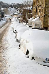 Pictured: The snow capital of Midlothian, Penicuik was hit hard by the Beast For The East with two foot snow drift affrecting roads and pavements.  Neighbours who felt brave enough to take on the snow checked with neighbours to make sure they had sufficient supplies.  There seemed to be a rush on bread in the local supermarket.<br /> <br /> Ger Harley | EEm 1 March 2018