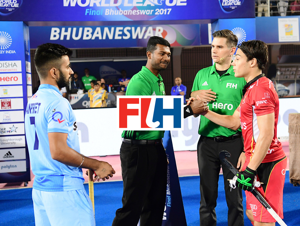 Odisha Men's Hockey World League Final Bhubaneswar 2017<br /> Match id:13<br /> Belgium v India<br /> Foto: Line Up<br /> COPYRIGHT WORLDSPORTPICS FRANK UIJLENBROEK