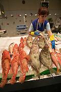 Mercat de l'Olivar (Olive Tree Market). Fresh fish.