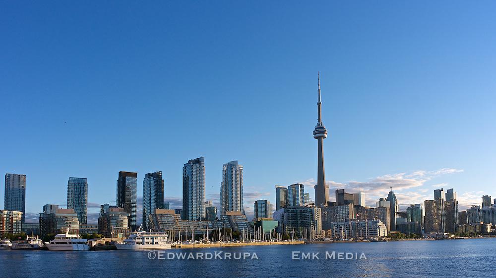 Early morning Toronto skyline, looking northeast.