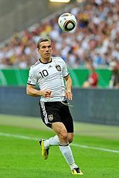 03.06.2010, Commerzbank-Arena, Frankfurt, GER, FIFA Worldcup Vorbereitung, Deutschland vs Bosnien-Herzegowina, im Bild Lukas Podolski (1.FC Koeln #10), Foto: nph /  Roth / SPORTIDA PHOTO AGENCY