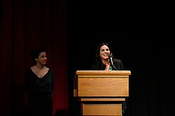 """Rayka Zehtabchi and Melissa Berton of the Oscar® nominated documentary short subject """"Period. End of Sentence"""" during the Academy of Motion Picture Arts and Sciences' """"Oscar Week: Documentaries"""" event on Tuesday, February 19, 2019 at the Samuel Goldwyn Theater in Beverly Hills. The Oscars® will be presented on Sunday, February 24, 2019, at the Dolby Theatre® in Hollywood, CA and televised live by the ABC Television Network."""